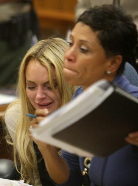 Линдси Лохан со своим адвокатом