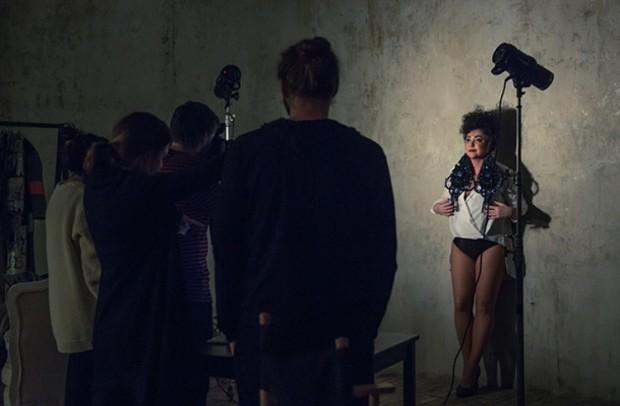 Лолита Милявская на съёмочной площадке