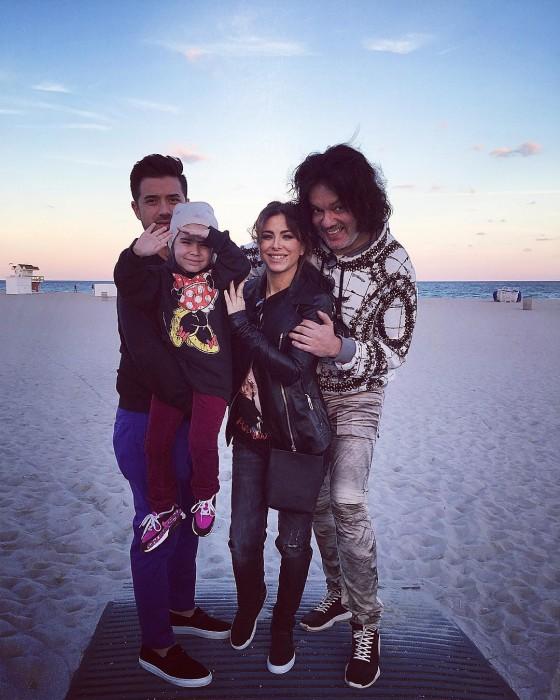 Лорак с семьёй и Киркоровым на Маями