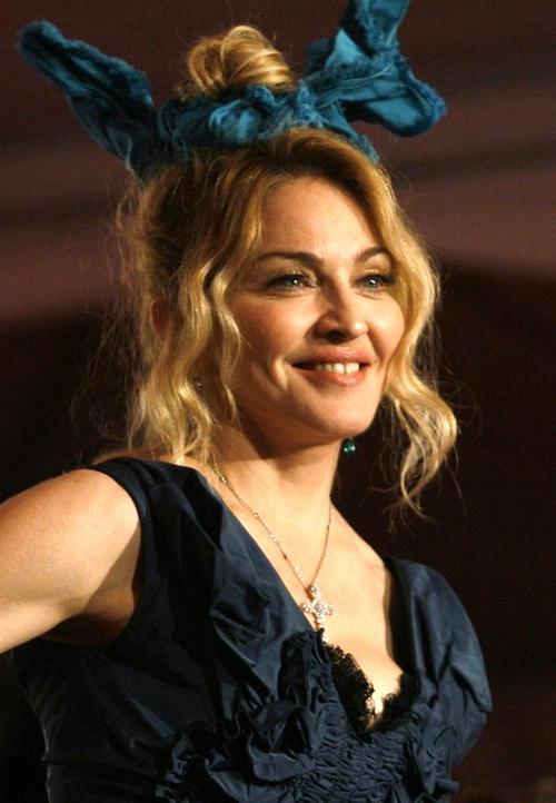 Американская певица Мадонна - на третьем месте