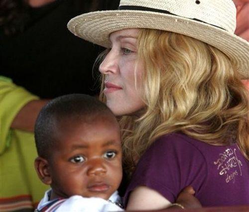 Мадонна с приемным сыном Дэвидом Бандой