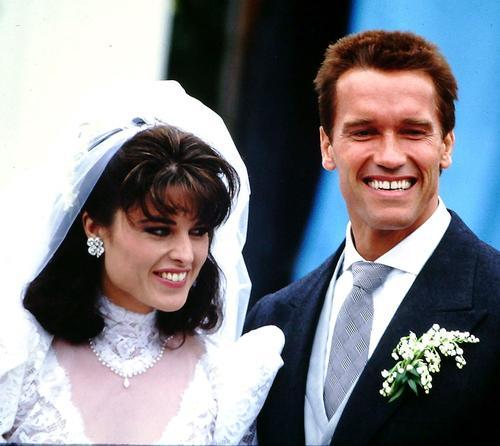 Свадебное фото: Мария Шрайвер и Арнольд Шварценеггер