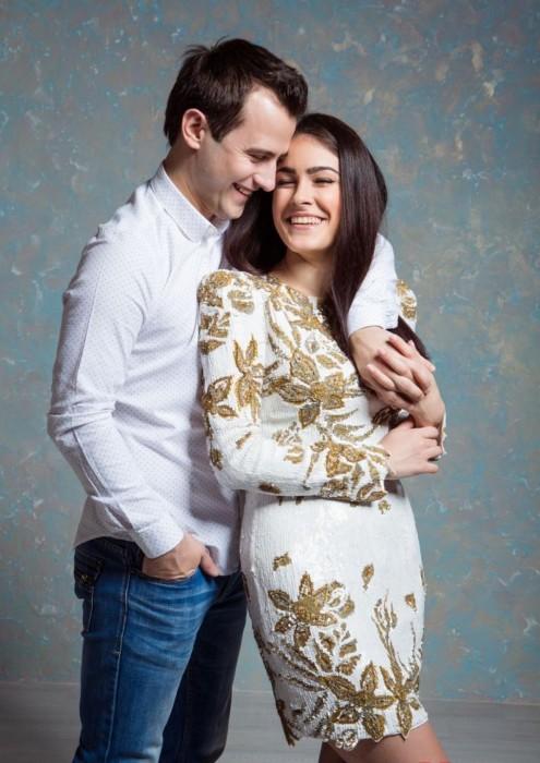 Маша Собко с мужем