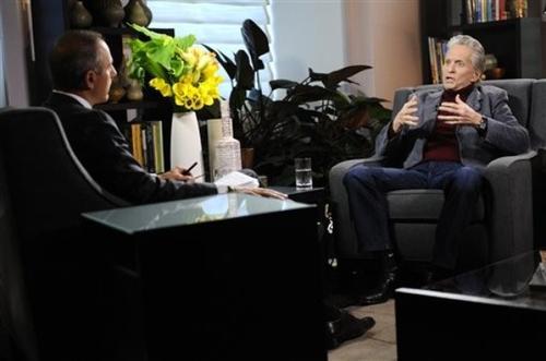 Майкл Дуглас во время интервью
