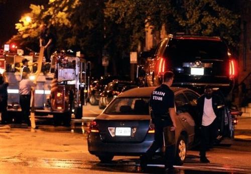 Фото с места ДТП: Cadillac Escalade увозят с места аварии