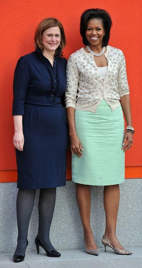 Первая леди США Мишель Обама и супруга премьер-министра Великобритании Сара Браун