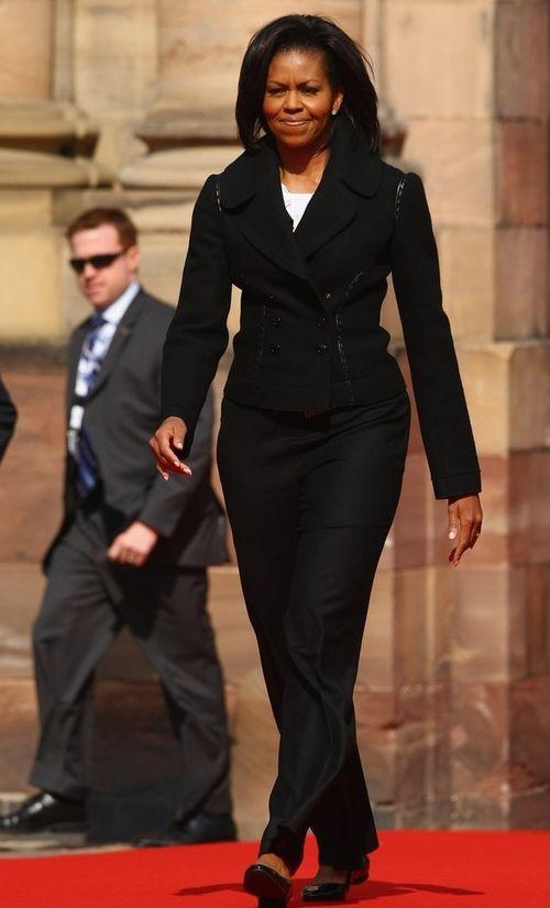 Мишель Обама в Страсбурге, Франция