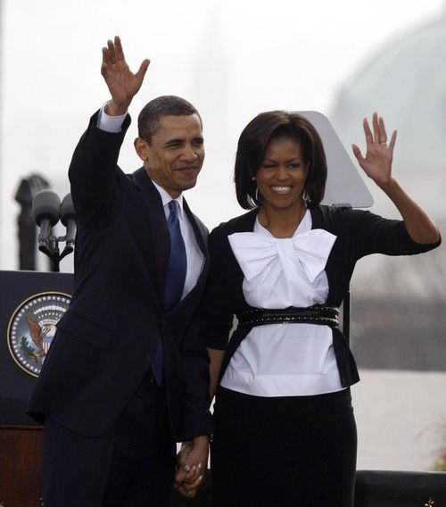 5 апреля Мишель и Барак Обама посетили столицу Чехии Прагу