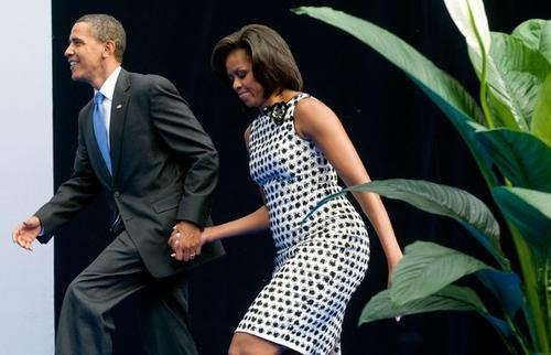 В Москве Барак и Мишель Обама не скрывали своих чувств