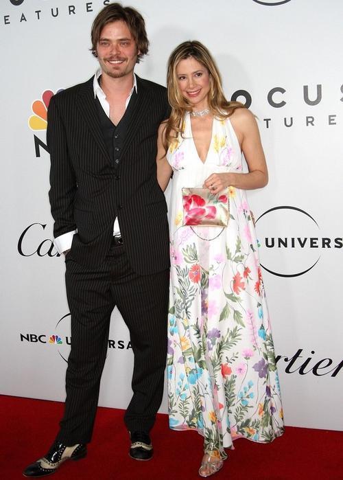Мира Сорвино с мужем, актером Кристофером Бакусом