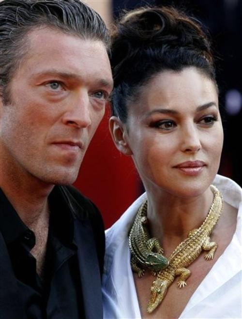 Моника Белуччи с мужем-актером Венсаном Касселем