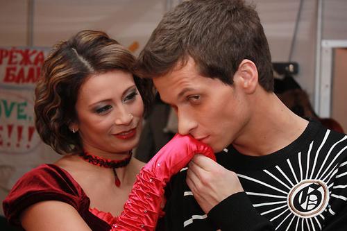Наталья Лигай и Евгений Карякин (третье место)