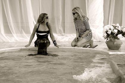 Наталья Могилевская на съемках клипа «Морские звезды»