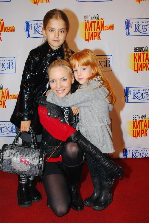 Наталья Окунская с детьми