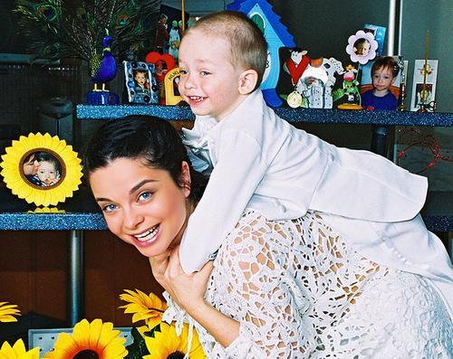 Наташа Королева с сыном Архипом