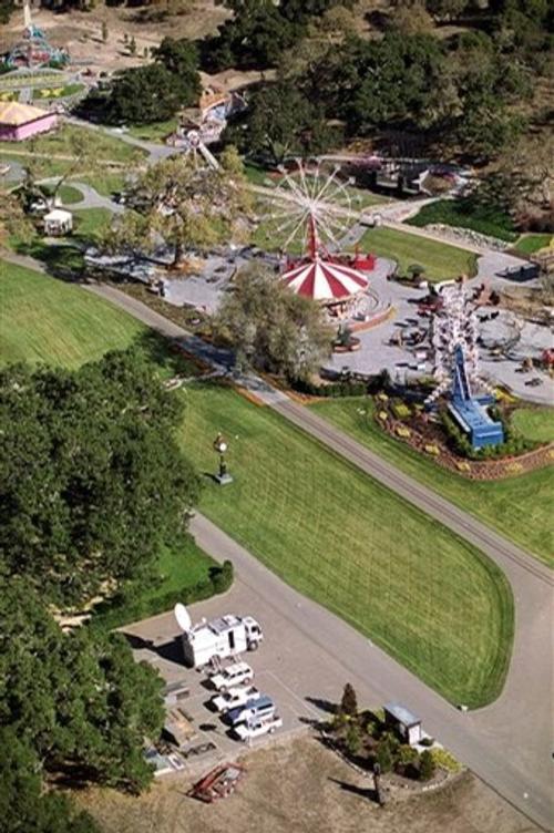 Ранчо Neverland с высоты птичьего полета. На его территории есть свой парк развлечений