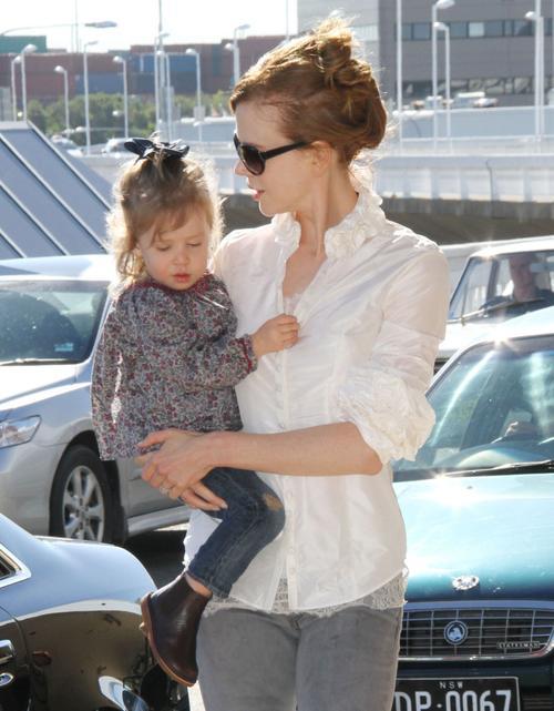 Николь Кидман с дочерью Санди Роуз