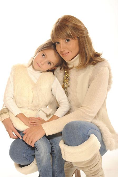 Оксана Марченко с дочерью Дариной