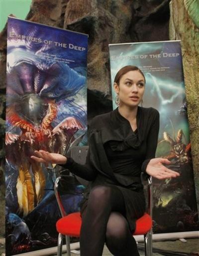 Ольга Куриленко на презентации фильма «Глубинные империи» в Пекине
