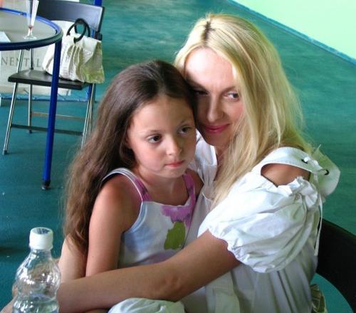 Ольга Полякова с дочерью Машей