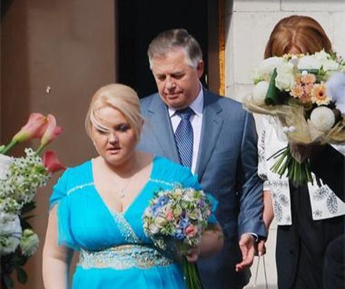 Оксана Ващенко и Петр Симоненко в день свадьбы