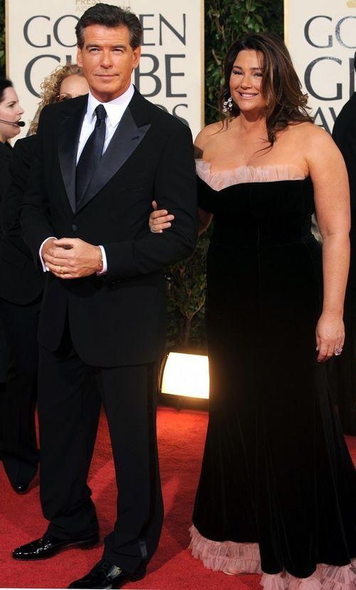 Пирс Броснан с женой Кили Шей Смит