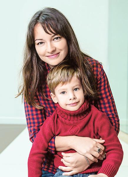 Ольга Павловец с сыном