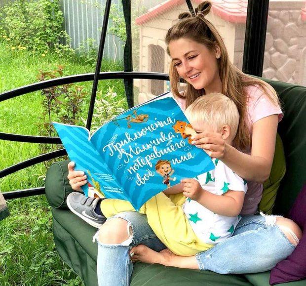 Анна Михайловская с сыном