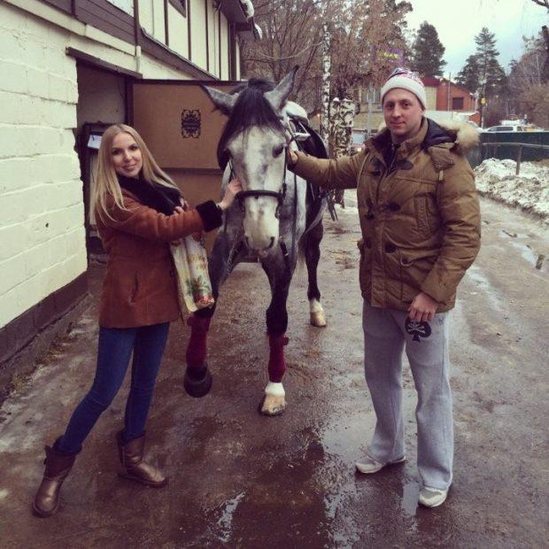 Евгений Руднев с супругой
