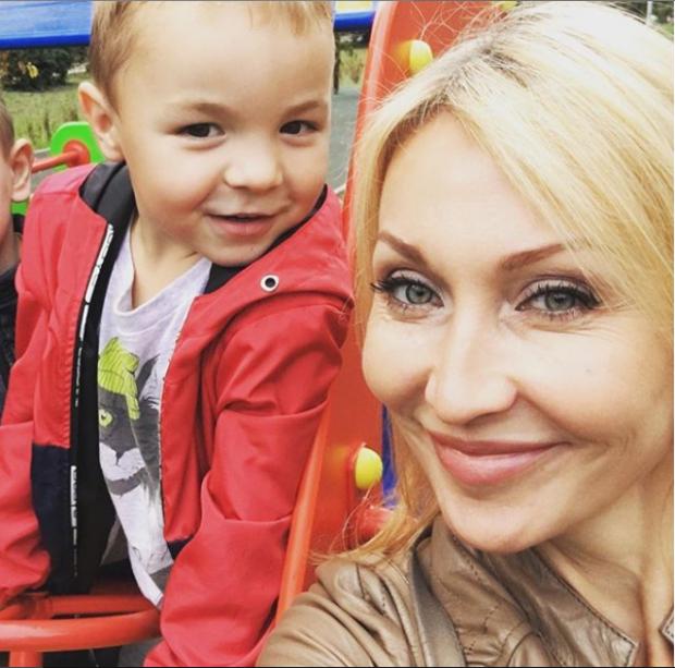 Светлана Галка с сыном