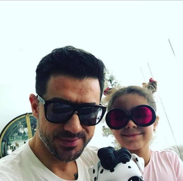 Мурат Налчаджиоглу с дочерью