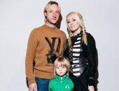 Евгений Плющенко с семьёй