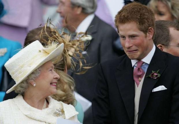 принц Гарри и королева Елизавета