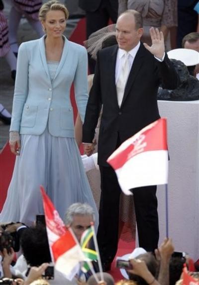 Альбер II и Шарлен Уиттсток