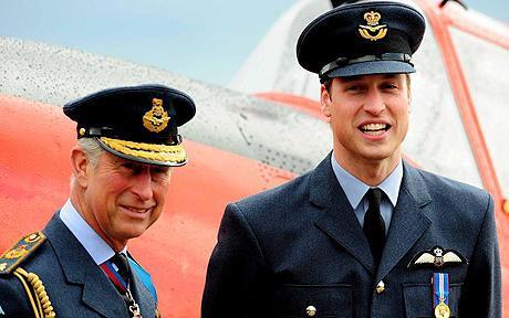 Принц Уильям с папой - принцом Чарльзом