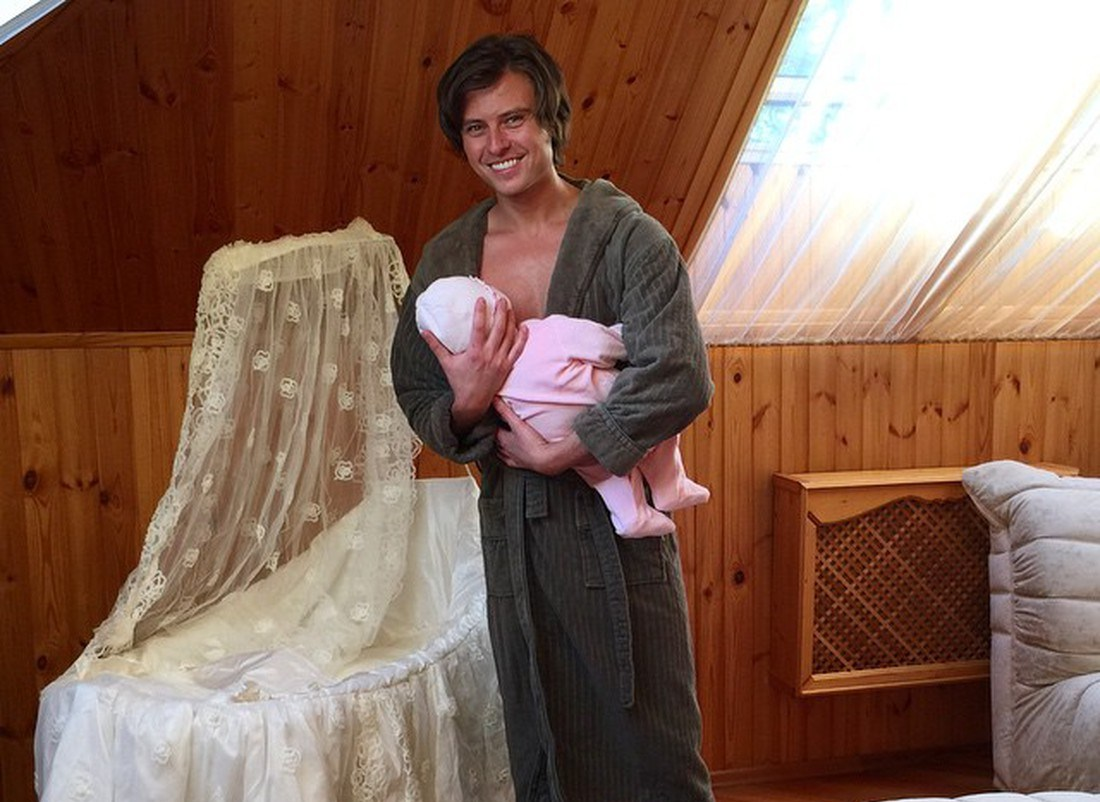 Прохор Шаляпин с ребёнком