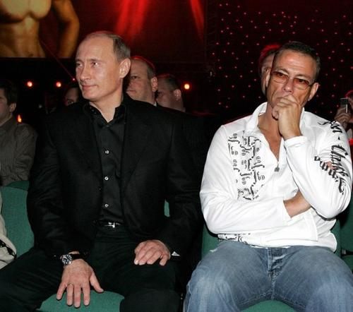 Владимир Путин и Жан-Клод Ван Дамм