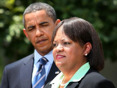 Регина Бенджамин и Барак Обама