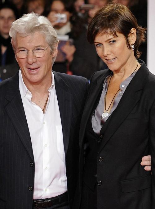 Ричард Гир с супругой Кэрри Лоуэлл