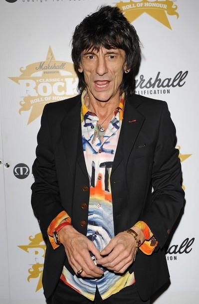 63-летний гитарист Ронни Вуд