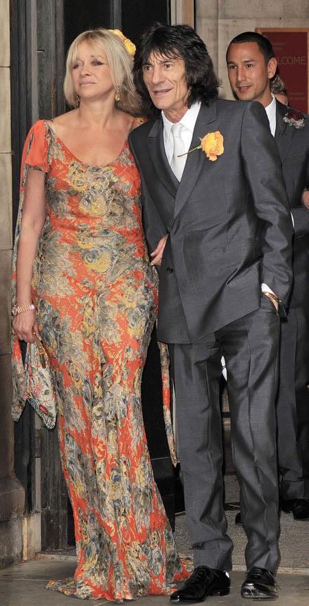 Ронни Вуд с бывшей супругой Джо