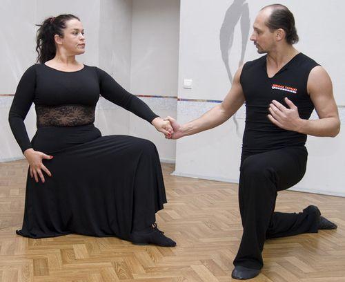 Руслана Писанка и Николай Коваленко на тренировке