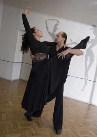 Руслана Писанка во время тренировки с Николаем Коваленко