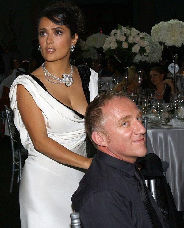 Сальма с мужем на роскошной вечеринке
