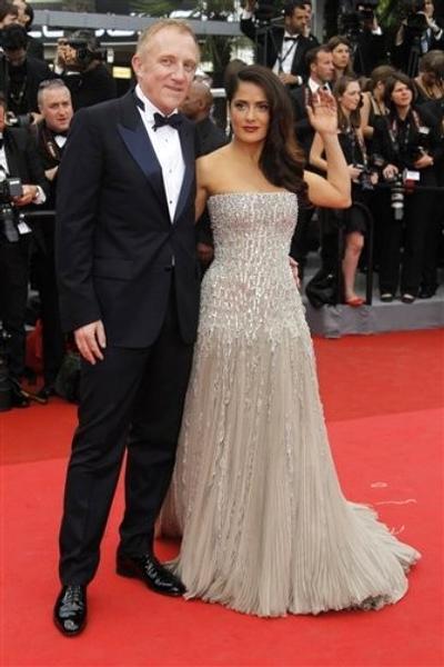 Сальма Хайек с супругом Франсуа-Анри Пино