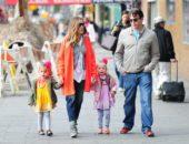 Сара Джессика Паркер с детьми и мужем