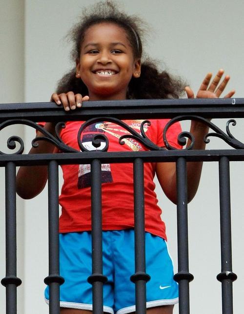 Младшая дочь - Саша Обама