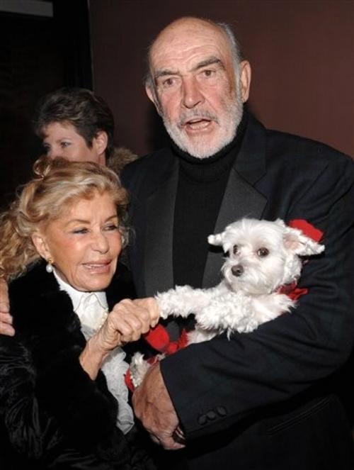Шон Коннери со второй женой Мишелин