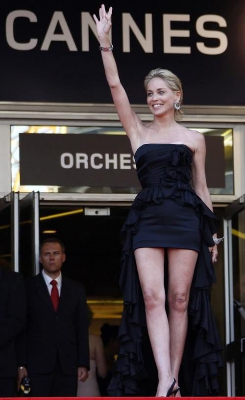 Шэрон Стоун на Каннском кинофестивале встречали толпы поклонников
