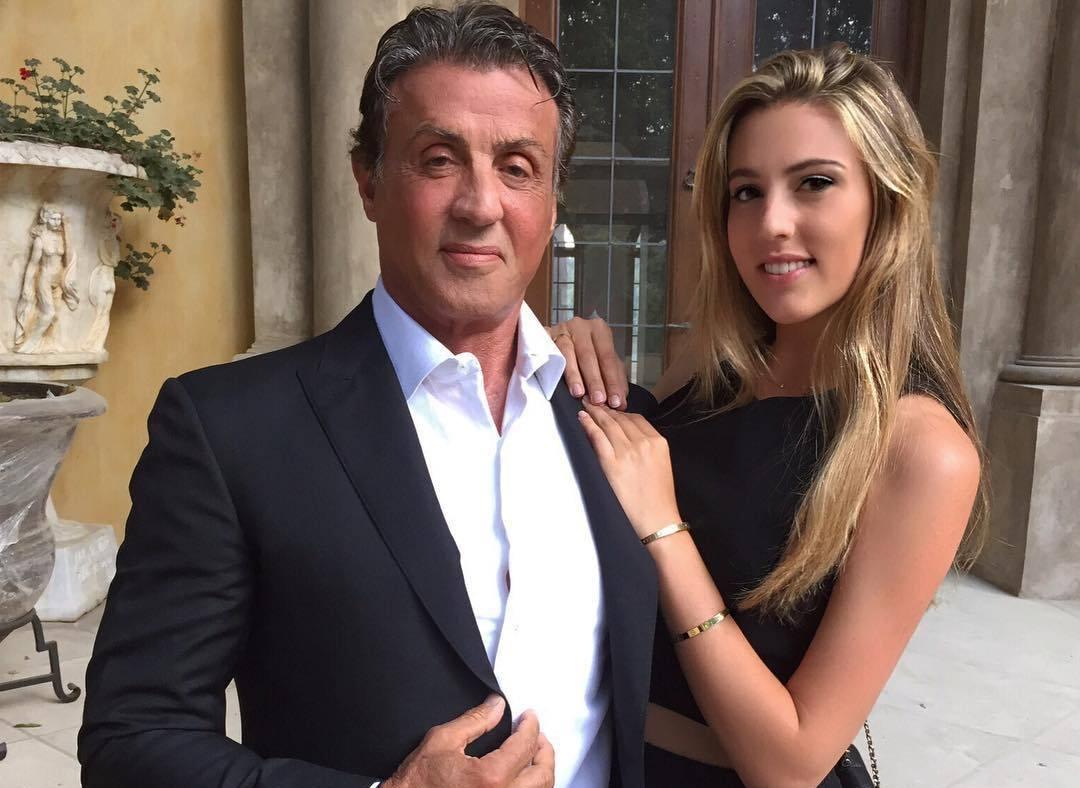Сильвестр Сталлоне с дочерью Софией